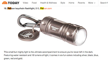 pelican products reviews 1810 led kaychain flashlight today show