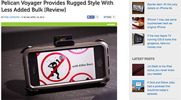 pelican products reviews cultofmac iphone 5/5s yoyager case