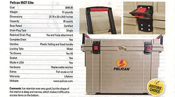 pelican products cooler reviews motorhome magazine july 2016