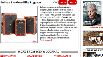 pelican products reviews mensjournal mens journal elite luggage