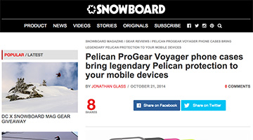 pelican products snowboardmag snowboard magazine voager cases