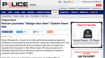 pelican products reviews pelicanfoam custom foam police magazine
