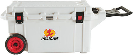 pelican products super cooler 80 quart wheeled ice chest