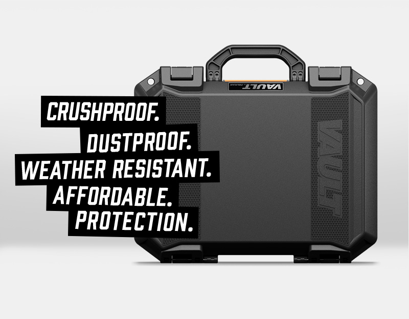 pelican crushproof dustproof vault case