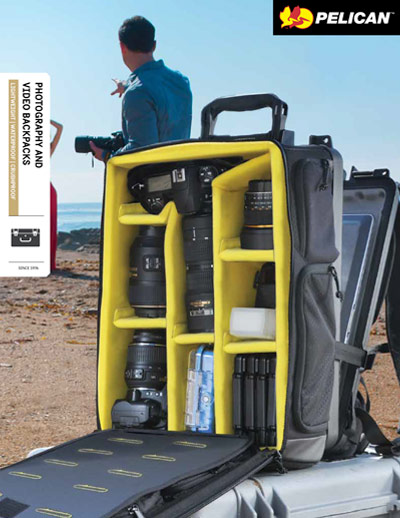 pelican peli products photography video backpacks brochure