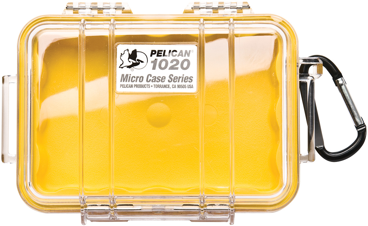 pelican peli products 1020 rugged hard yellow micro case