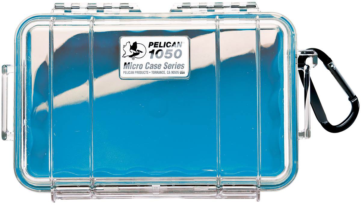 pelican peli products 1050 watertight beach blue small case