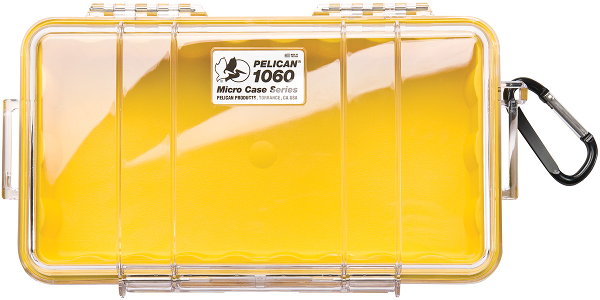 pelican peli products 1060 waterproof protective yellow case