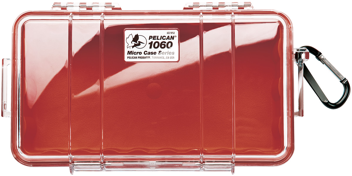 pelican peli products 1060 waterproof strong red hard case