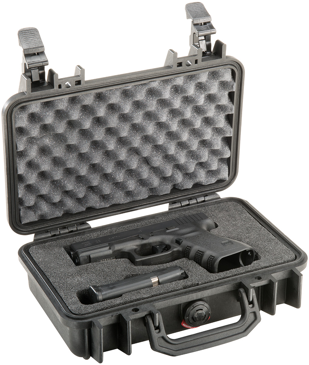 pelican peli products 1170 pistol gun glock hard case