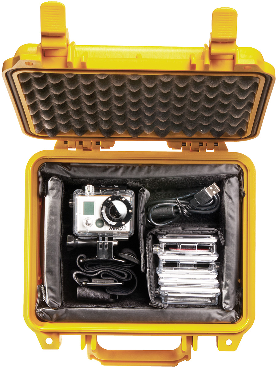 pelican peli products 1200 gopro waterproof hard case