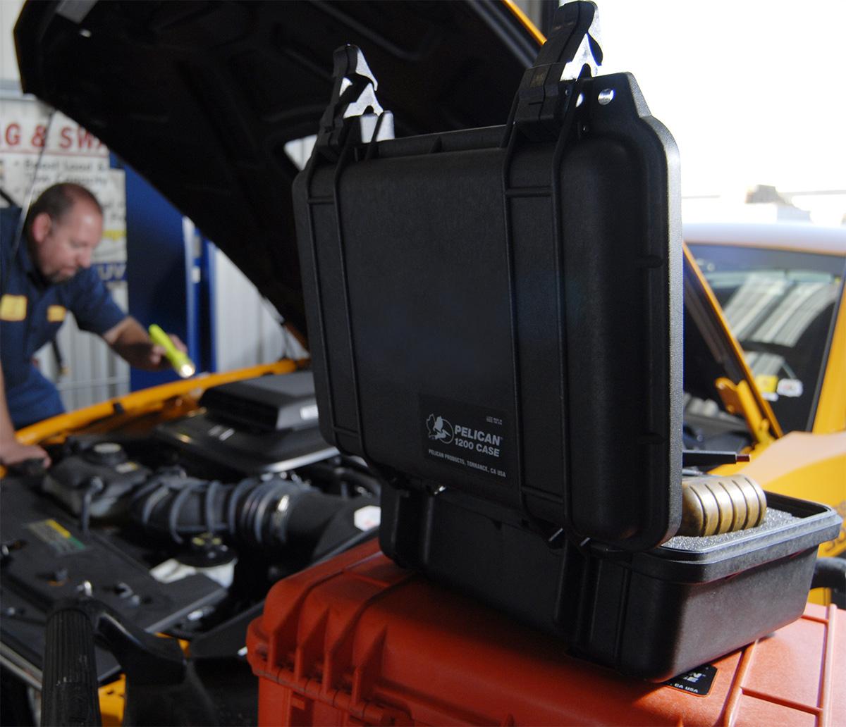 pelican peli products 1200 mechanic tool box hard case