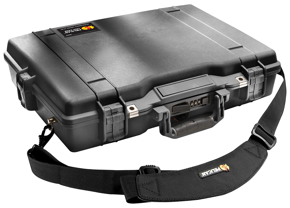 pelican peli products 1495 secure strong case laptop briefcase