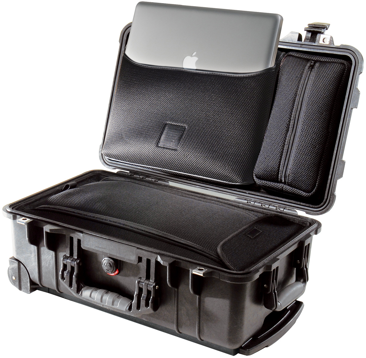 pelican peli products 1510LOC hard suitcase travel macbook case