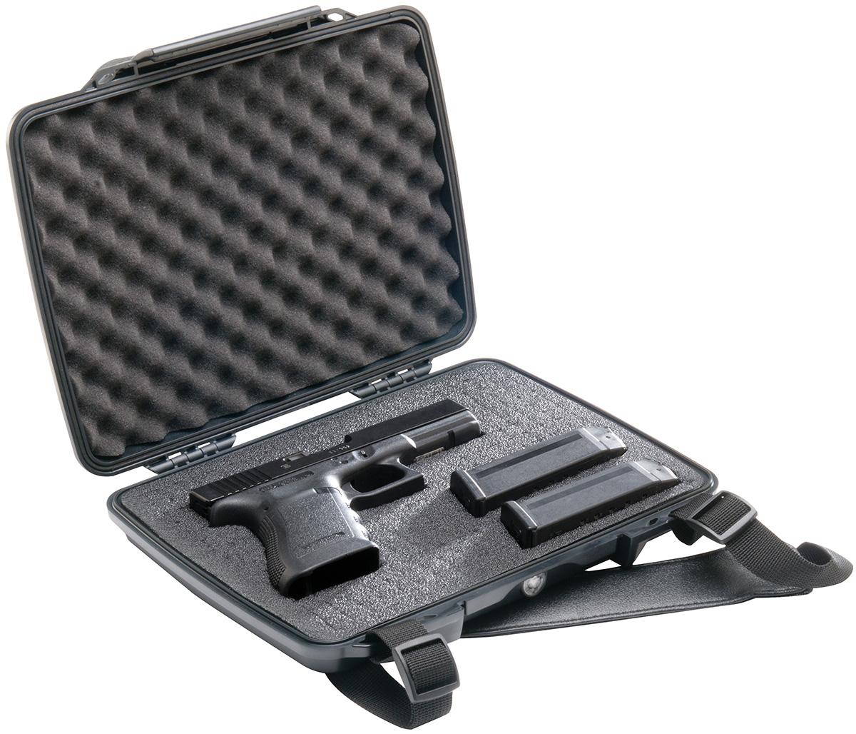pelican peli products P1075 hard pistol gun waterproof case