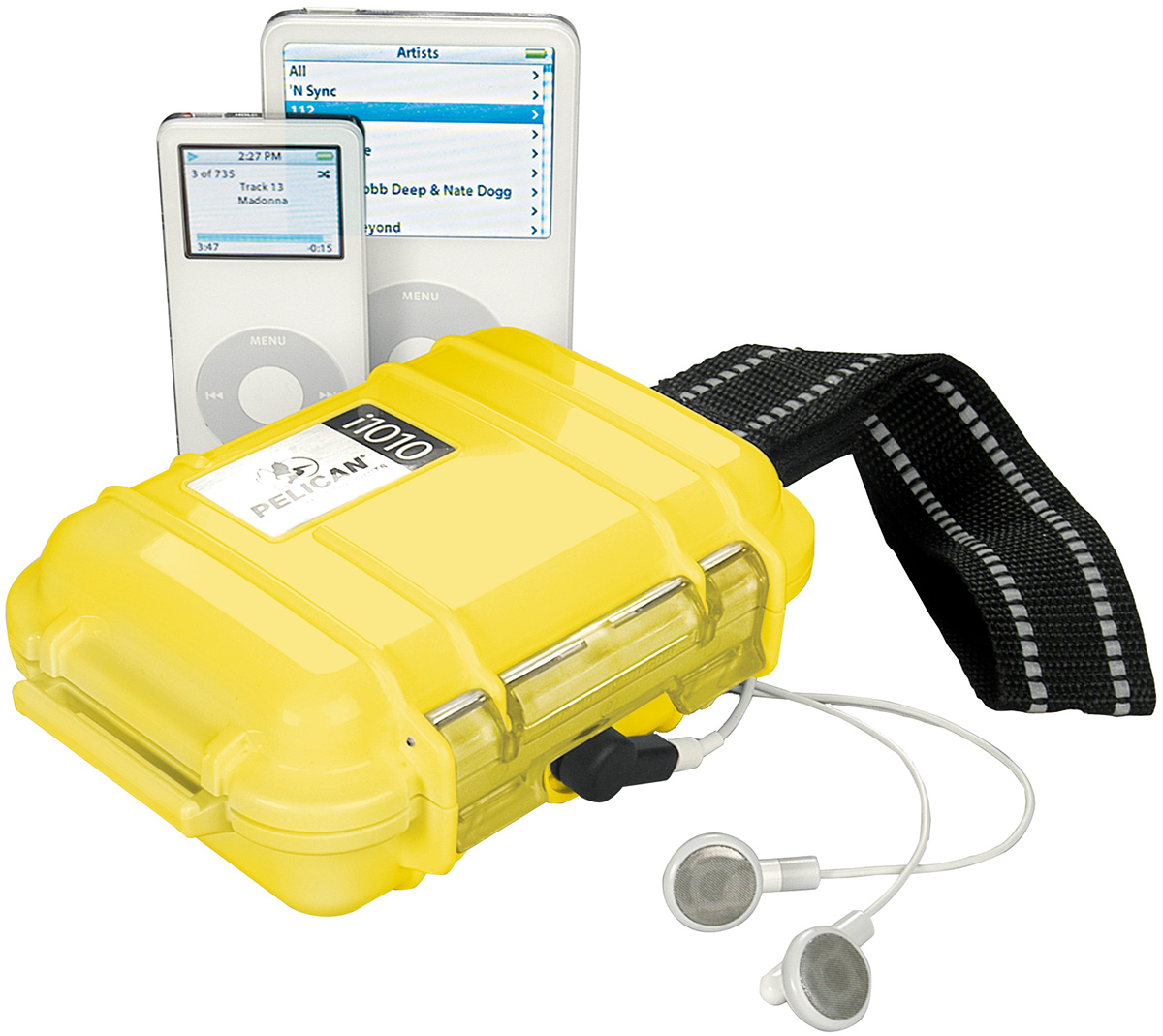 pelican peli products i1010 yellow ipod watertight hard case