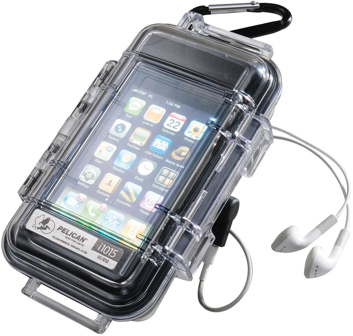 pelican peli products i1015 waterproof iphone protection case