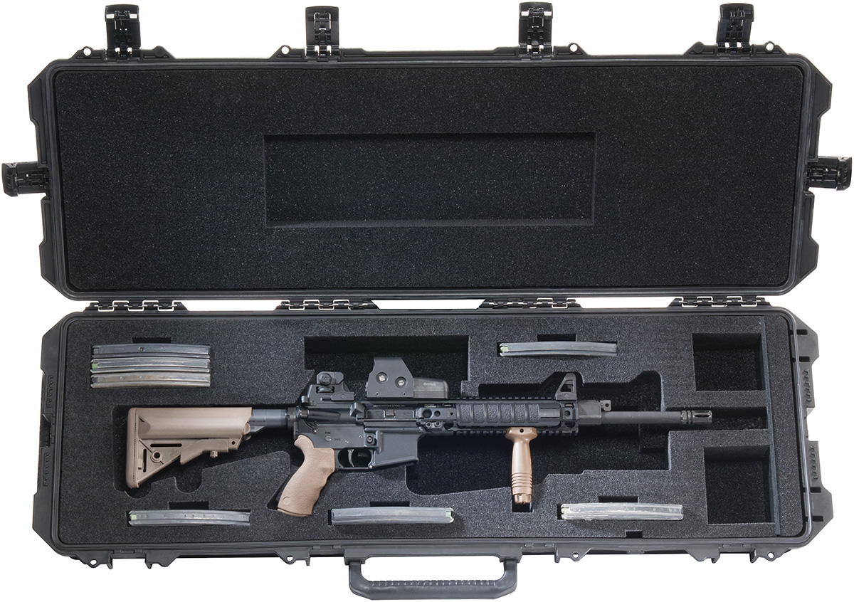pelican peli products iM3200 ar15 m16 hard rifle protection case