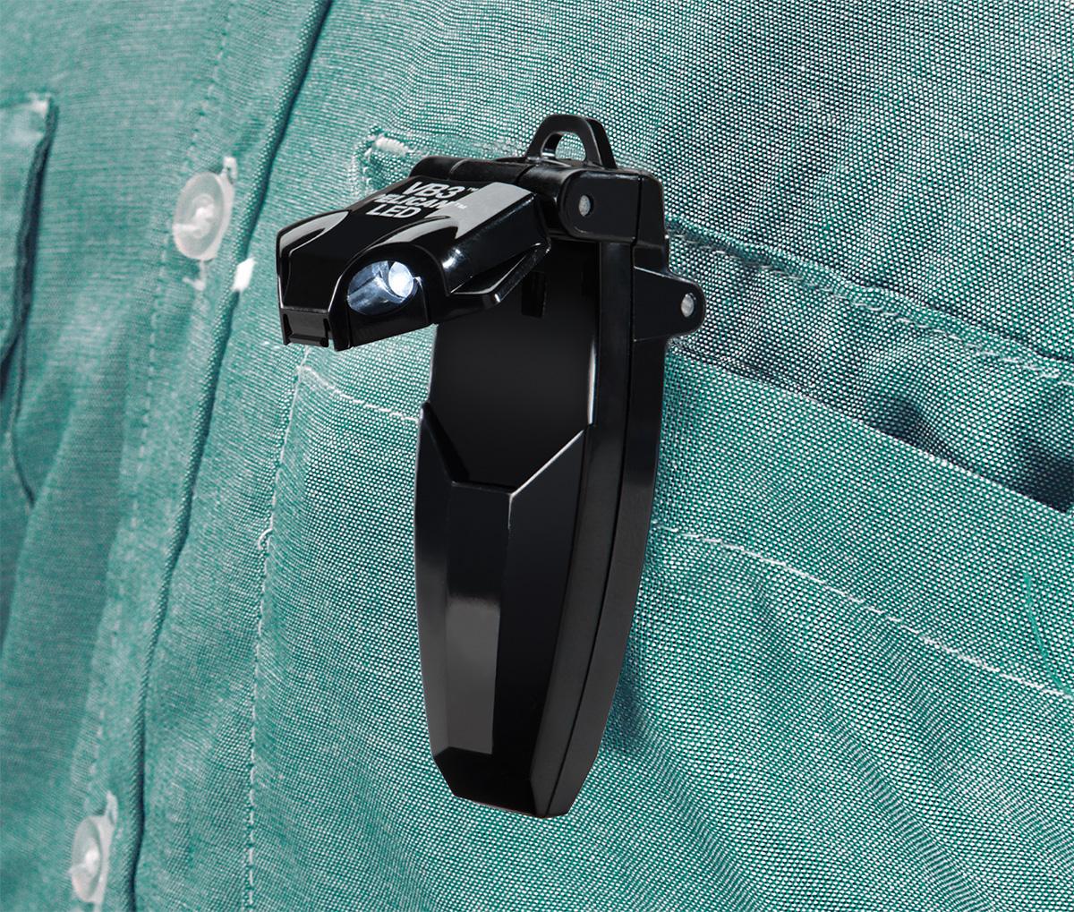 pelican peli products 2220 bright shirt pocket clip on led light