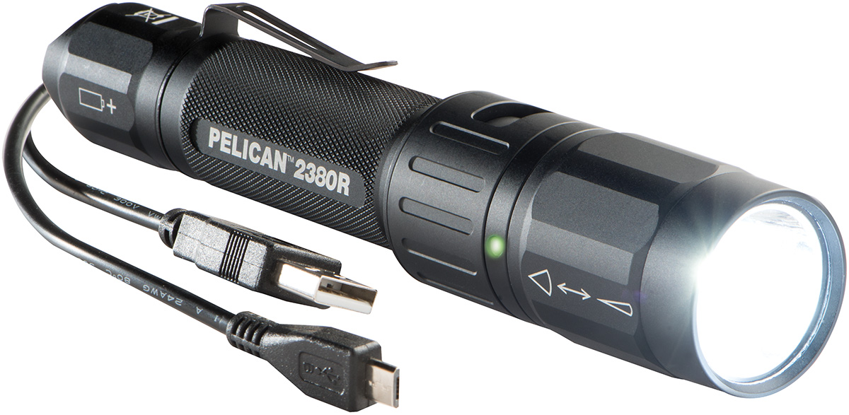 pelican peli products 2380R waterproof usb rechargable led flashlight