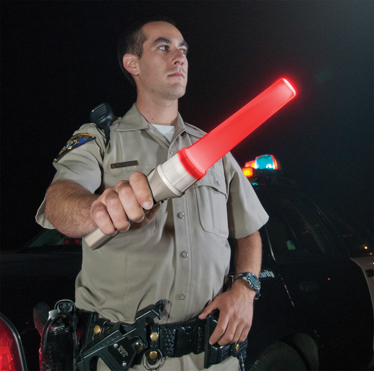pelican peli products 2490 traffic cop police direction wand light