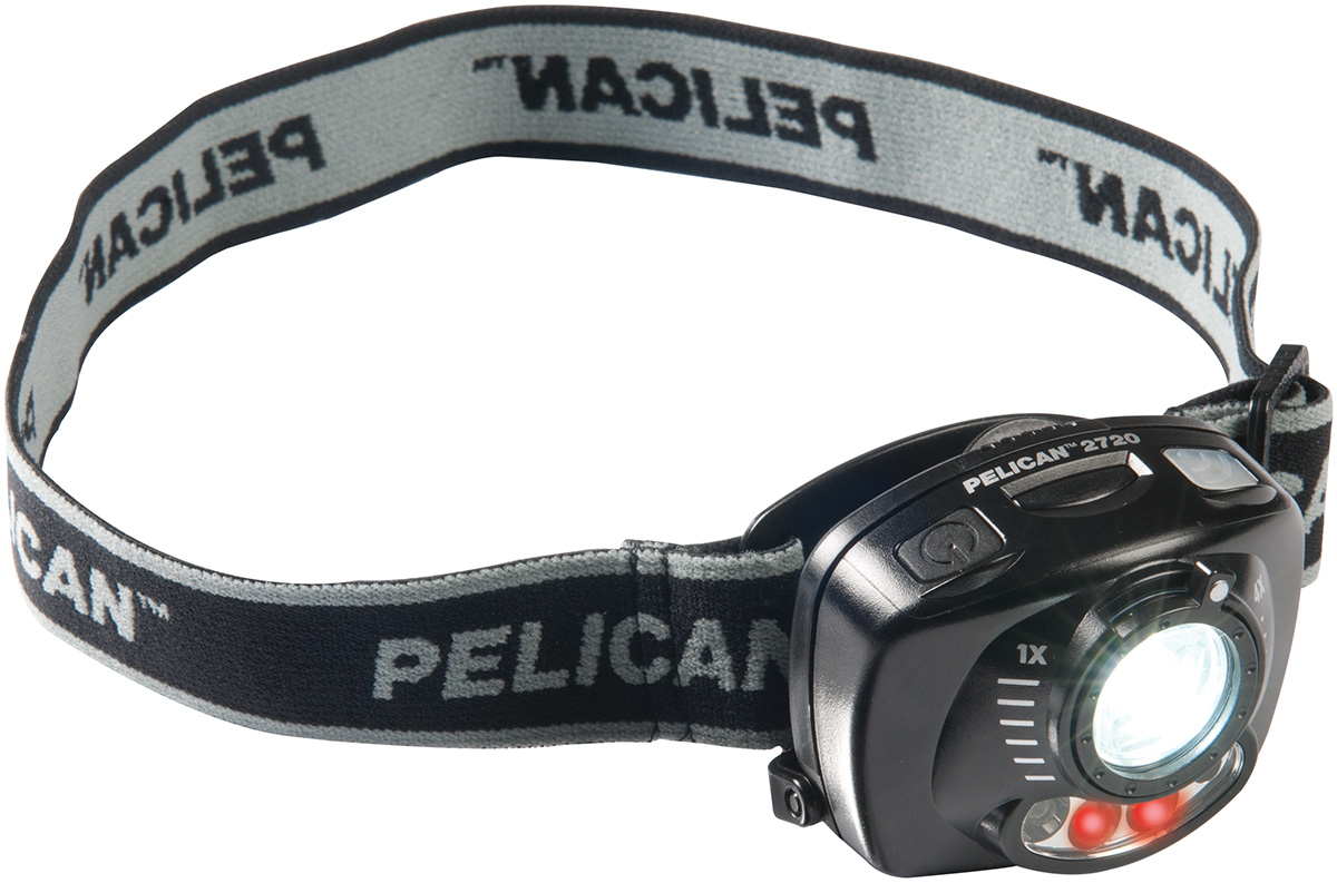 pelican peli products 2720 bright red night vision led headlamp