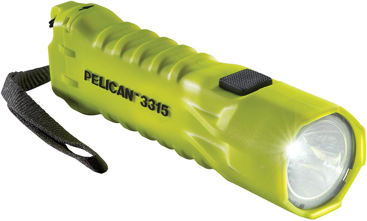 pelican peli products 3315 bright yellow led safety flashlight