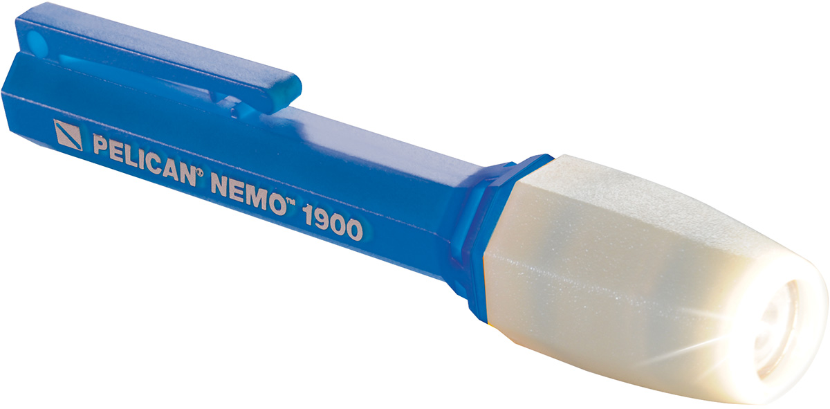 pelican peli products 1900N waterproof nemo blue small dive flashlight