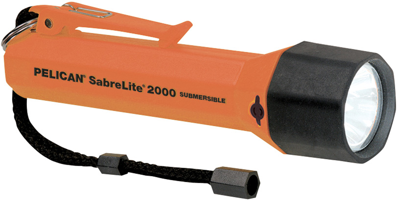 pelican peli products 2000 waterproof orange submersible sabrelite