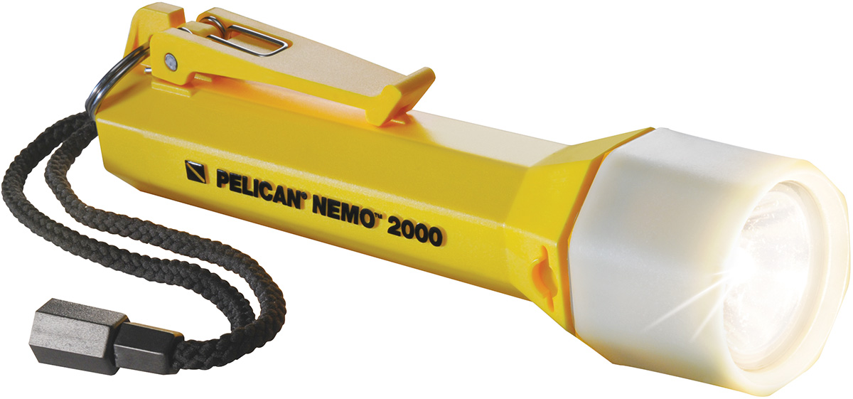 pelican peli products 2000N waterproof nemo yellow scuba dive light