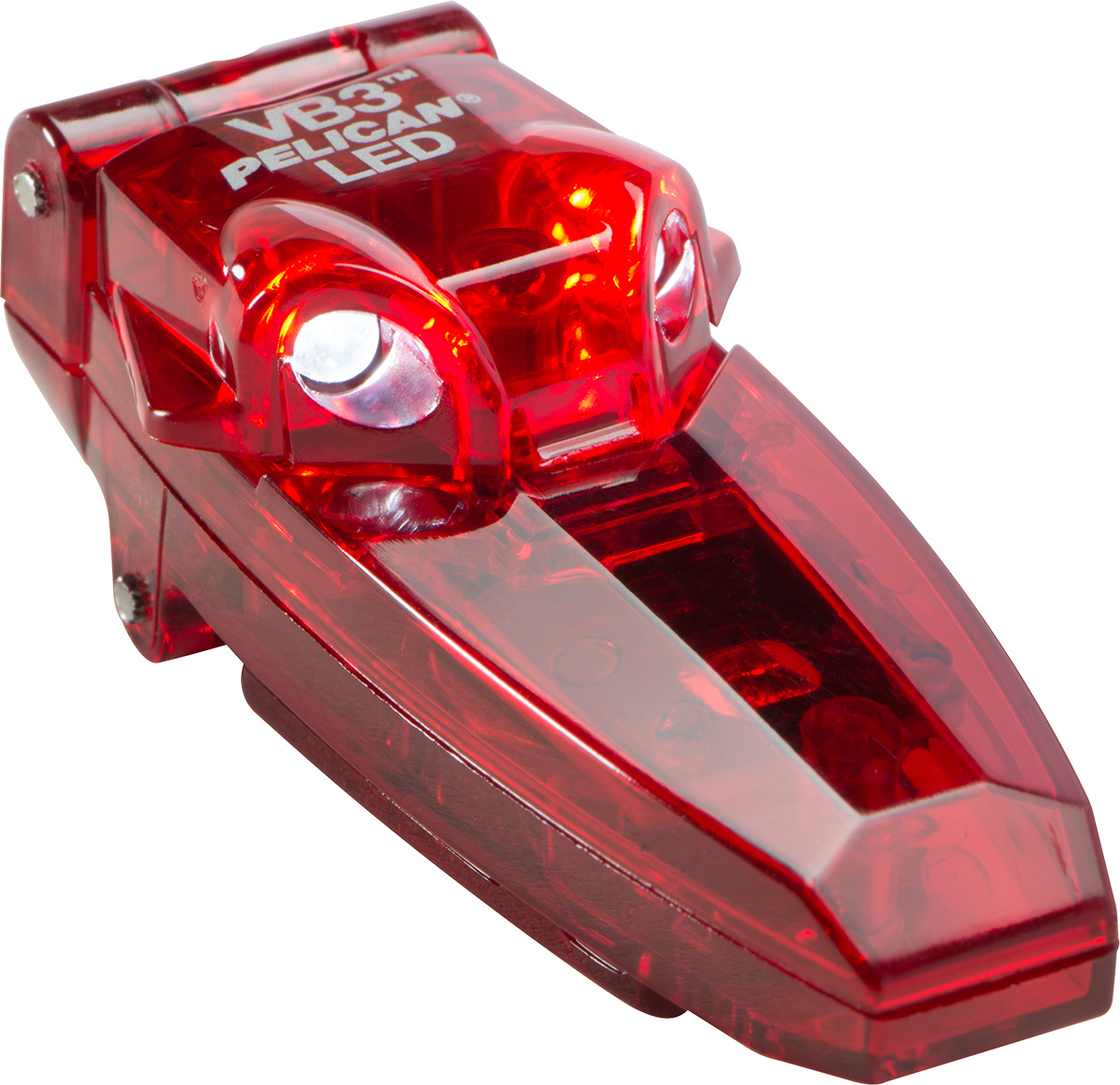 pelican peli products 2220 red mechanic hat clip on led light