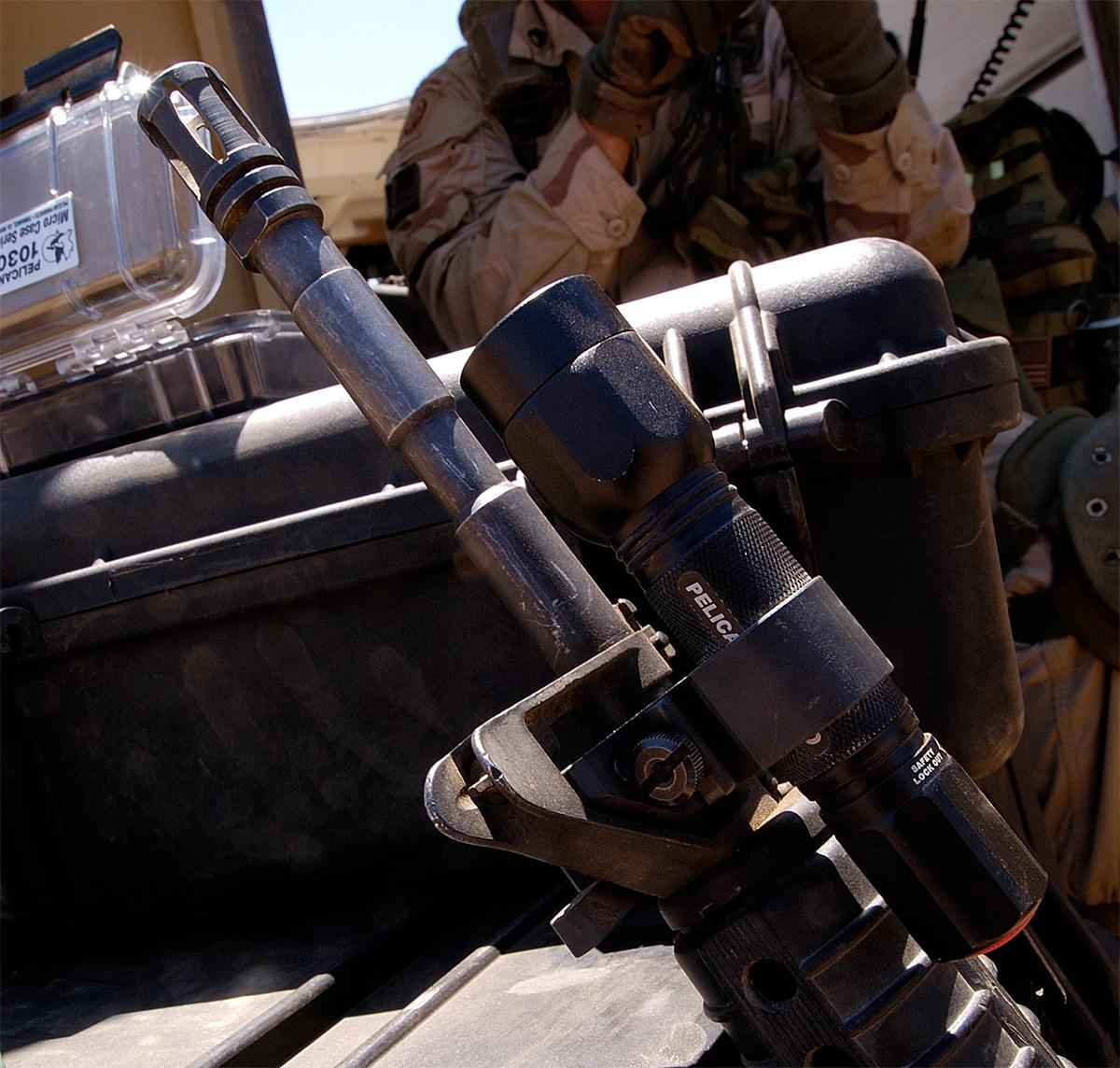 pelican peli products 2330 military rifle gun led mounted light