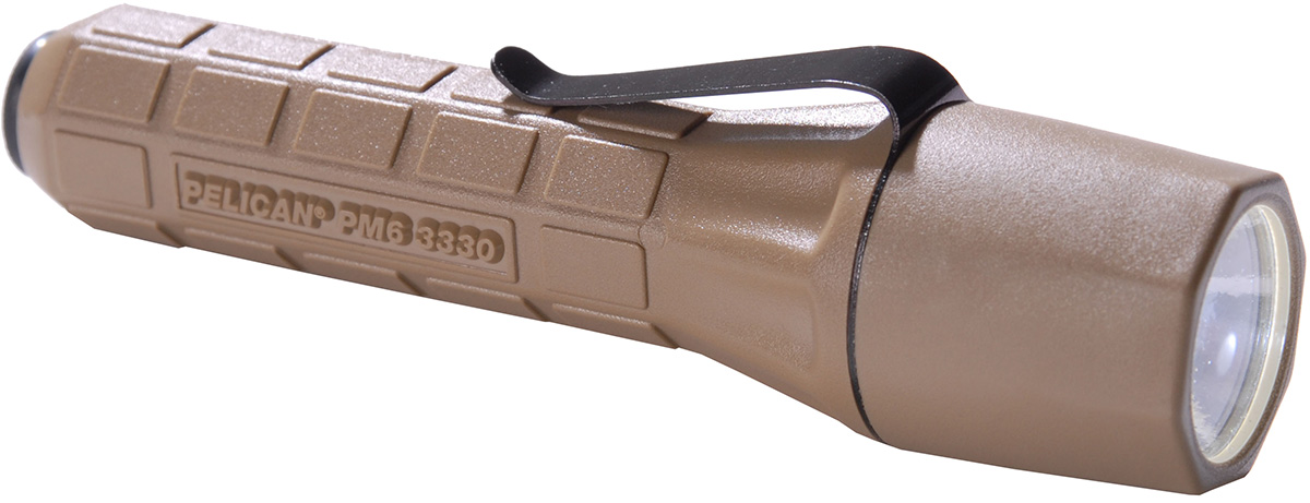 pelican peli products 3330 tan military xenoy tactical flashlight
