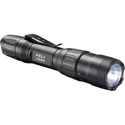 7600 LED Linterna Peli, Táctica Recargable. Negra