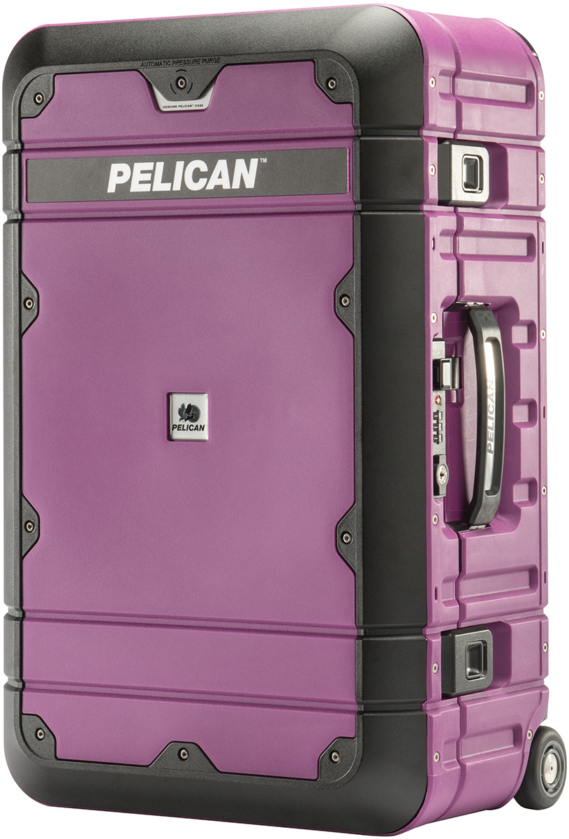 pelican peli products BA22 pink rolling airplane carry on travel luggage