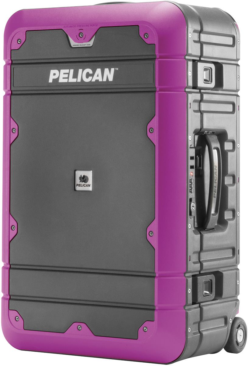 pelican peli products BA22 purple carry on airline hard luggage usa