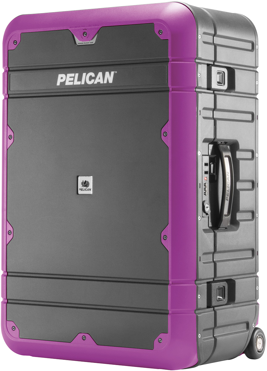 pelican peli products BA27 purple rugged best rolling travel suit case