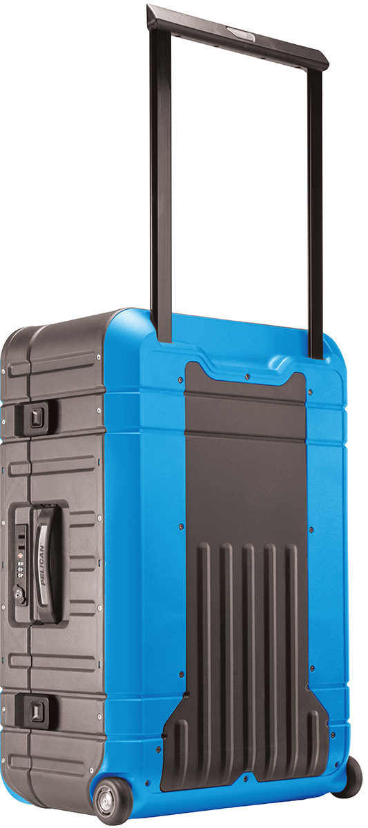 pelican peli products BA27 usa made blue wheeled luggage locking tsa