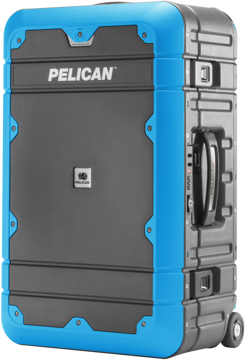 pelican peli products EL22 hard shell watertight carry on luggage locking