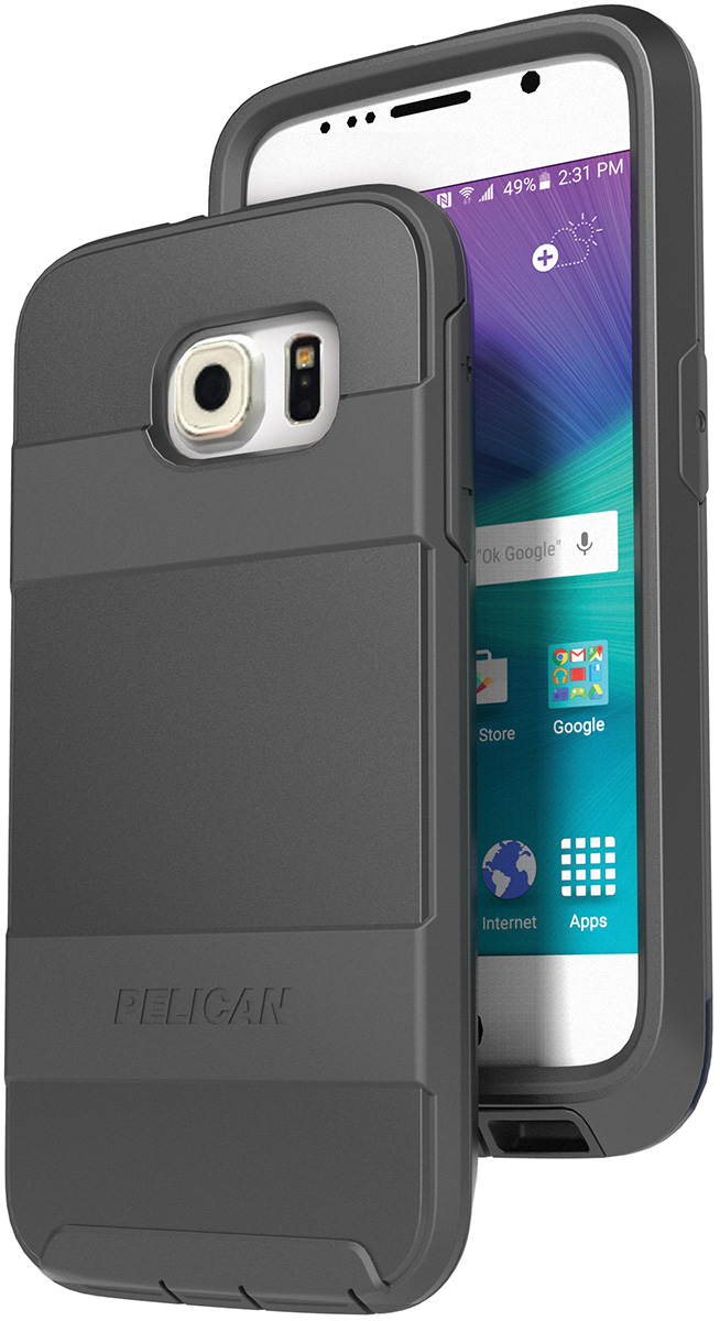 pelican peli products C04030 black galaxy s6 hard case