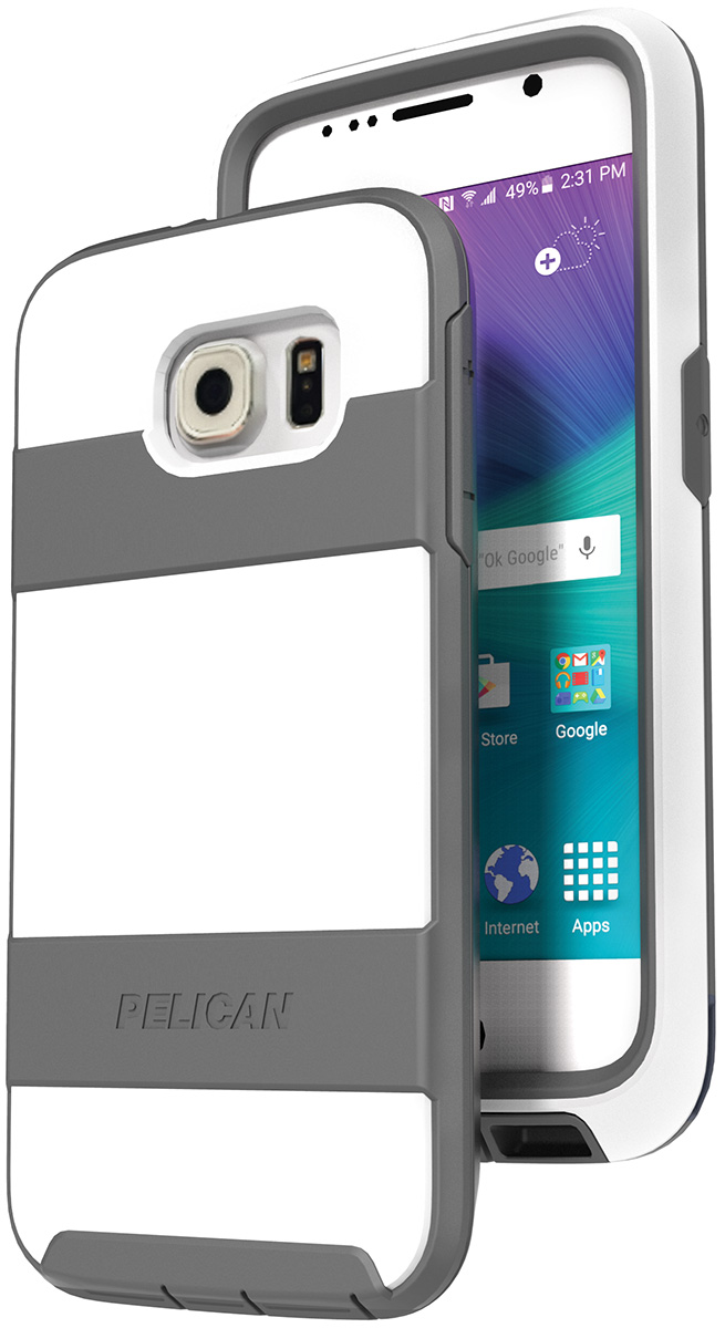pelican peli products C04030 white galaxy s6 hard case