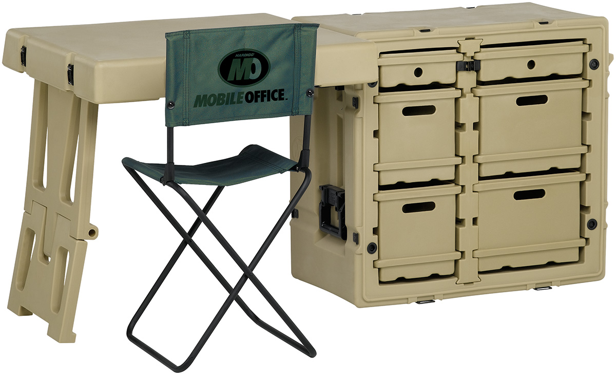 pelican peli products 472 FLD DESK TA mobile military office desk