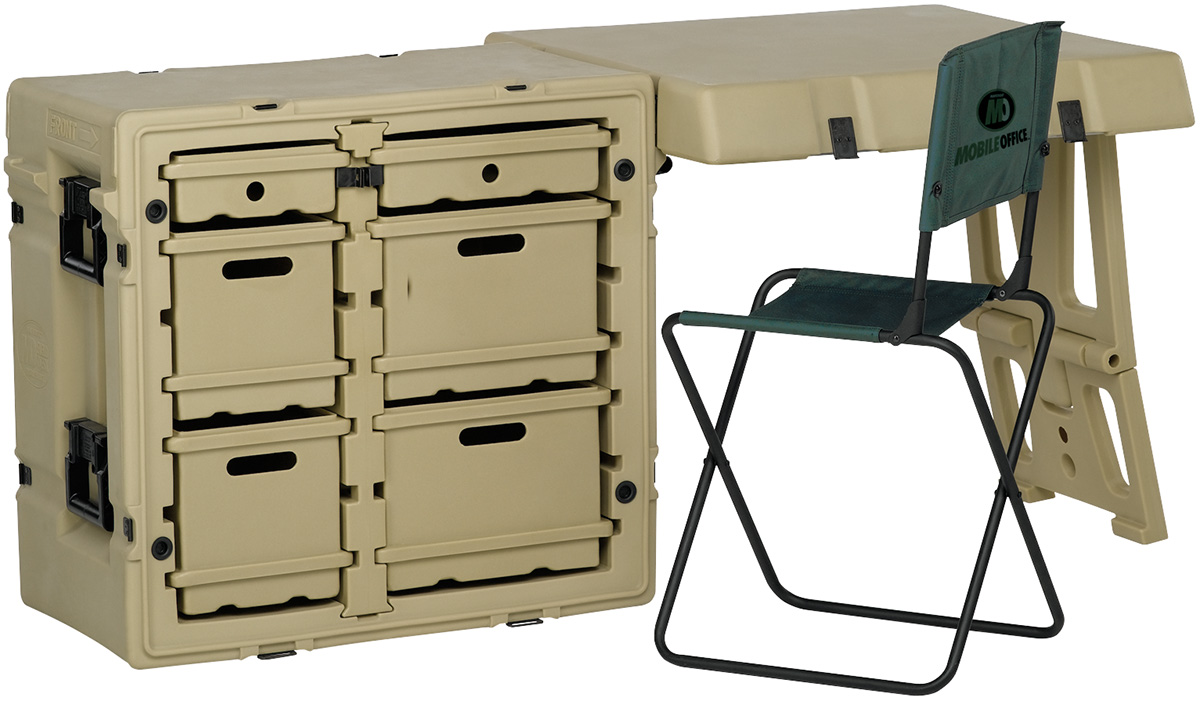 pelican peli products 472 FLD2 DESK TA outdoor military office desk