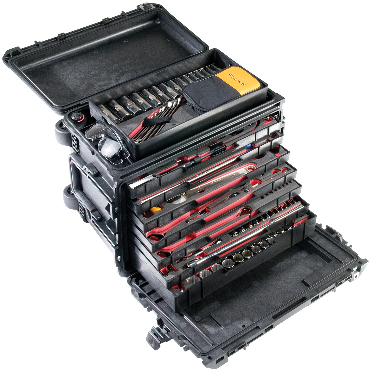 pelican peli products 0450 rugged mobile tool box chest
