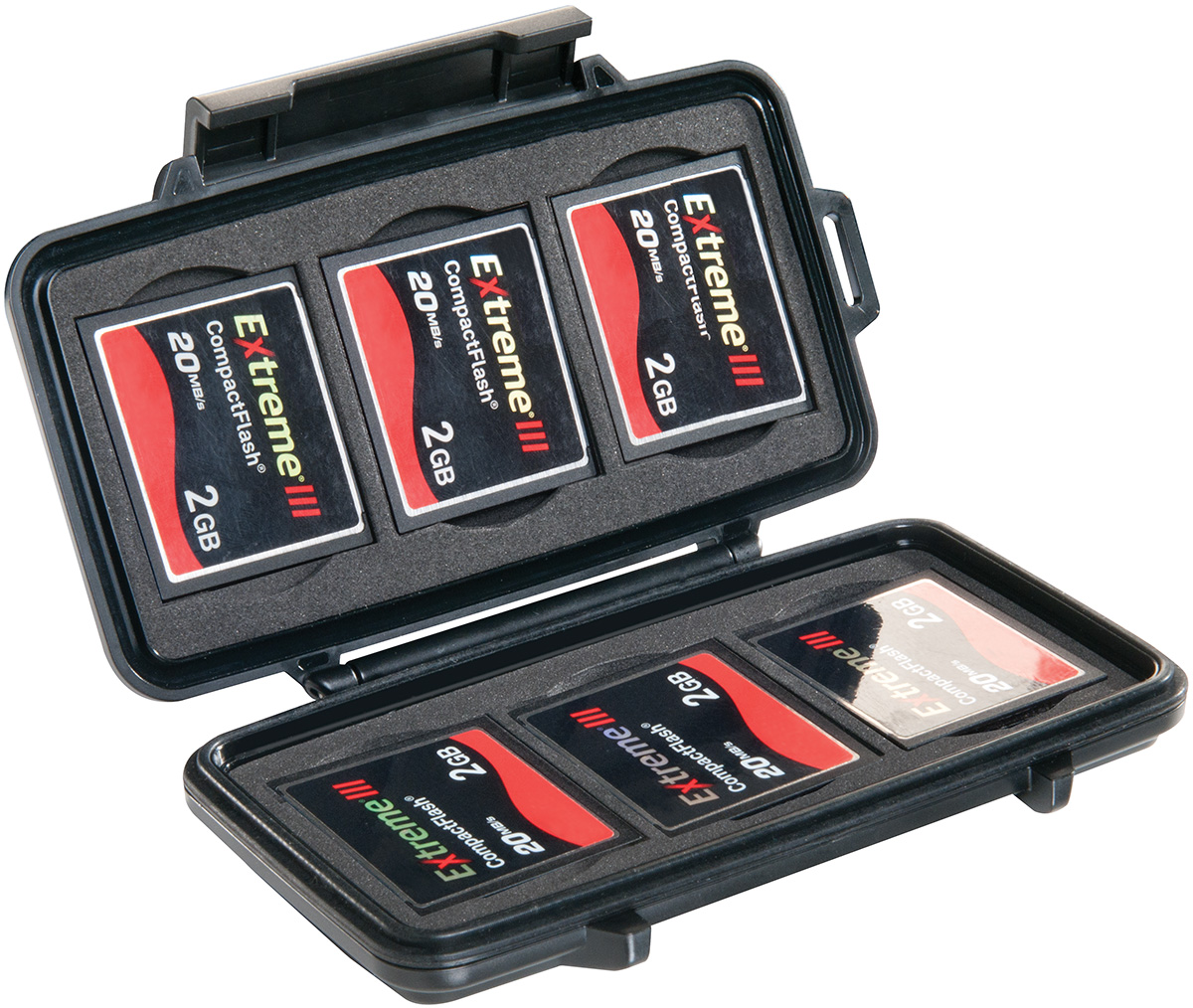 pelican peli products 0945 waterproof memory card case
