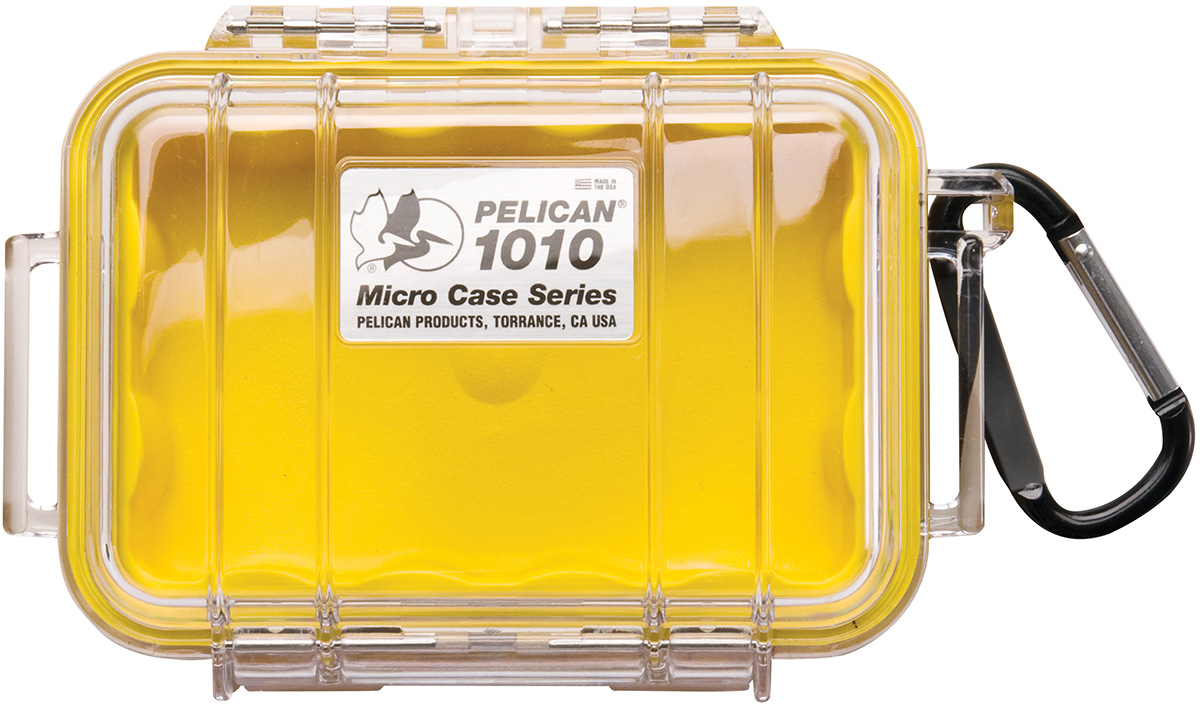 pelican peli products 1010 submersible yellow small case