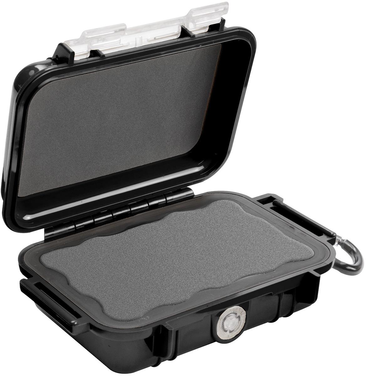 pelican peli products 1010 waterproof black tiny case