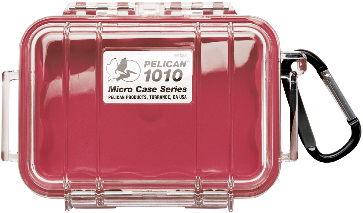 pelican peli products 1010 watertight marine red micro case
