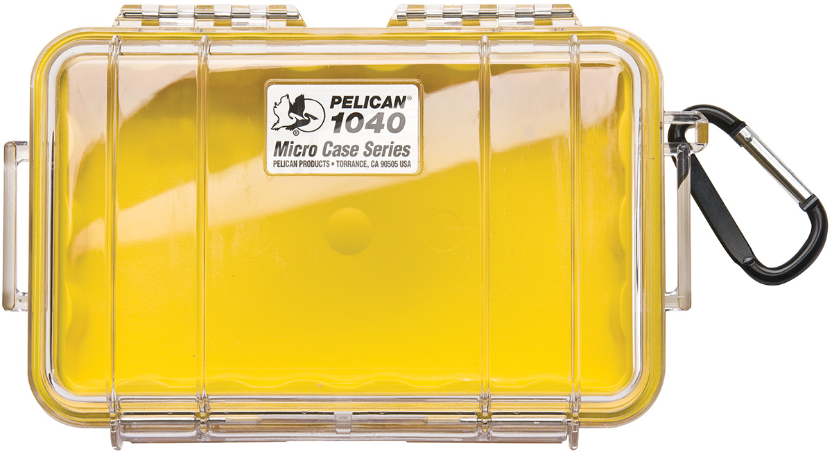 pelican peli products 1040 waterproof yellow hardcase