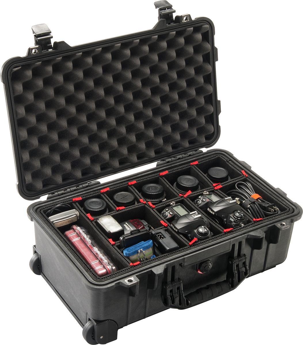 pelican camera cases 1510tp trekpak carry-on case